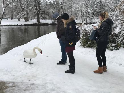 Rencontre avec un signe dans le parc