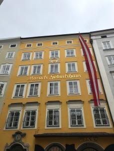 facade de la maison de Mozart